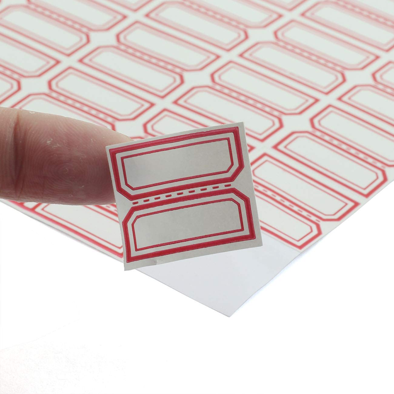 PZRT 12 Sheet//192pcs Self-Adhesive Label Stickers for Laboratory Label Product Classification Stationery Stickers Price Tag Post Writable Blank Sticker 5x2.9cm Three Spaces