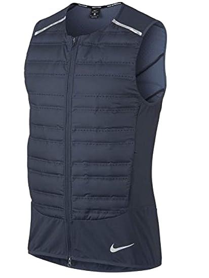 Amazon.com  Nike Men s AeroLoft Running Vest Thunder Blue (X-Large)  Nike   Clothing 57aa0646e