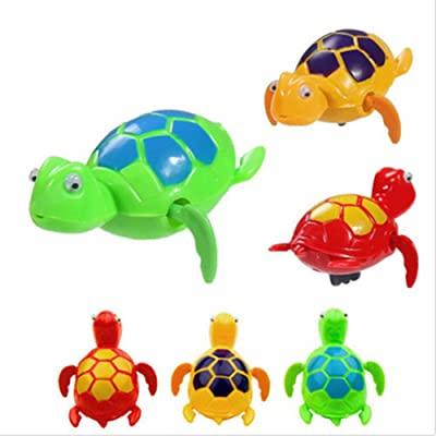 Baby Bath Toy, Pstarts Funny Swimming Turtle, Floating Wind-up Bathtub Pool Toys Cute Water Play Sets for Kids Boys Girls: Home & Kitchen