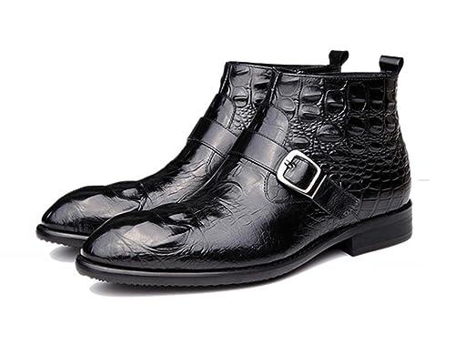WZG Bottes homme en Europe et en Amérique vraiment Pima Ding bottes version  coréenne de chaussures casual chaussures de mode des bottes en cuir en  relief ...