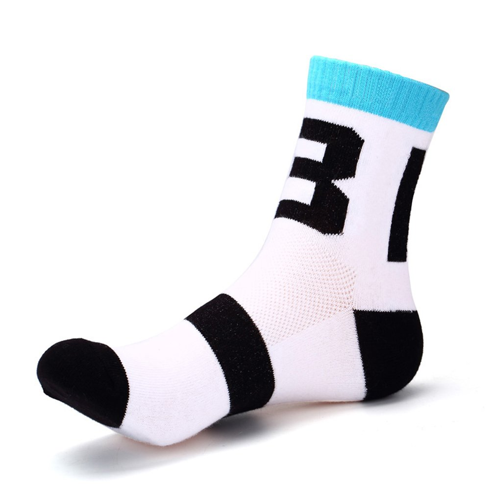 Rong-Bao Mens Cotton Blend Bicycle Mountain Bike Travel Sports Ankle Socks