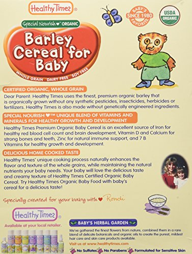 Healthy Times Whole Grain Baby Cereal - Barley - 8 oz