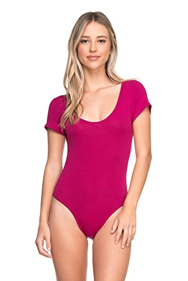 02faf0fd36ba Cemi Ceri Women's J2 Love Cotton Short Sleeve Thong Bodysuit, X-Small, Berry