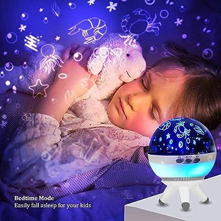 Lámpara de proyector de Noche Luz Nocturna Mesita de Noche Luces ...
