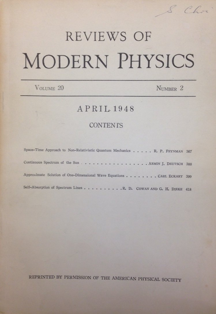 Space-Time Approach to Non-Relativistic Quantum Mechanics  Reviews