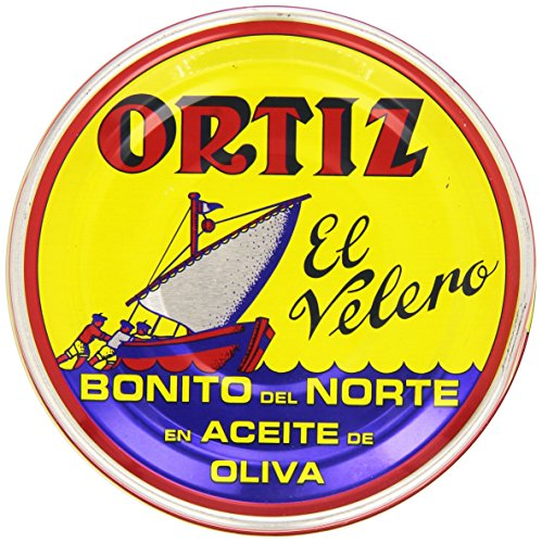 Grm Tin (Ortiz El Velero Bonito Del Norte Tuna Packed in Olive Oil 250 Grm Tin)
