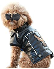 Pu Leather Motorcycle Jacket, Dog Puppy Pet Clothes Leather Jacket, Waterproof (XXL)