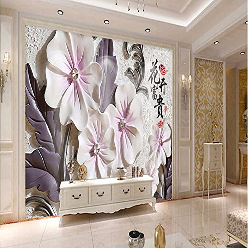 250cmX175cm 2017 Custom Modern Luxury Photo Wall Mural 3D Wallpaper Papel De Parede Living Room Tv Backdrop Wall Paper Of China Flower,C by 3Ds wallpaper (Image #2)