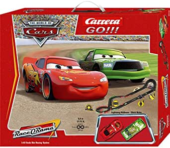 carrera go disney cars slot race car set 1. Black Bedroom Furniture Sets. Home Design Ideas