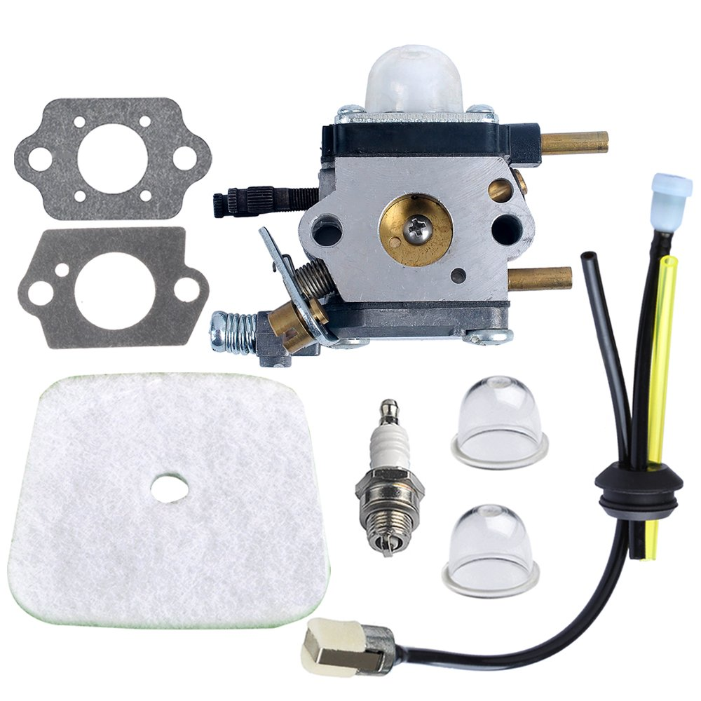 HIPA C1U-K54A Carburetor with Air Filter Repower Kit for 2-Cycle Mantis 7222 7222E 7222M 7225 7230 7234 7240 7920 7924 Tiller / Cultivator