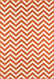 Nolita Rugs Nicky Polypropylene Orange Indoor/Outdoor Rug 8'6'' X 13'