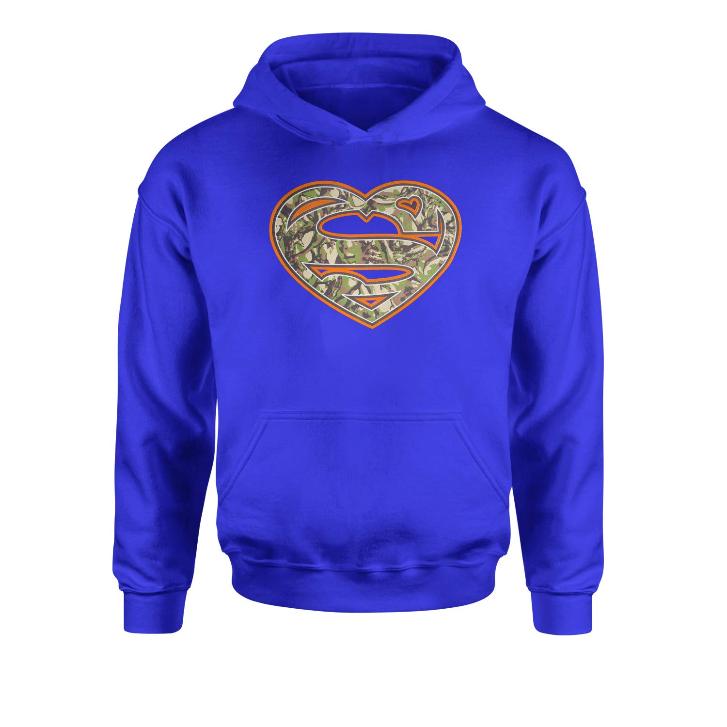 Expression Tees Super Camouflage Heart Youth-Sized Hoodie