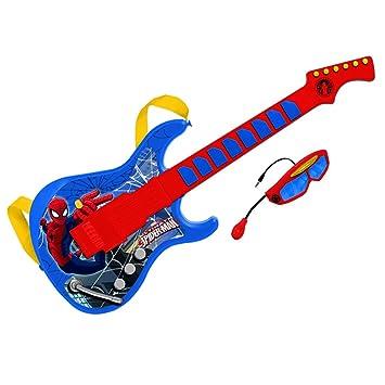 Spiderman- Guitarra electrónica con Gafas y micrófono Incorporado (Claudio Reig 557) Juguete Musical (REIG557): Amazon.es: Juguetes y juegos