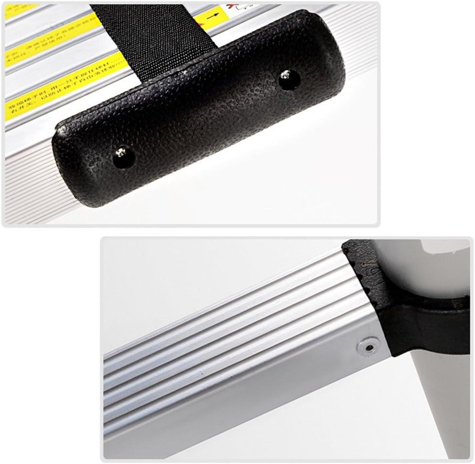 HENGMEI 3.2m Pliable Echelle T/élescopique /Échelle Pliable /Échelon Escabeau Portable et Pliante Multi-Fonction en Aluminium