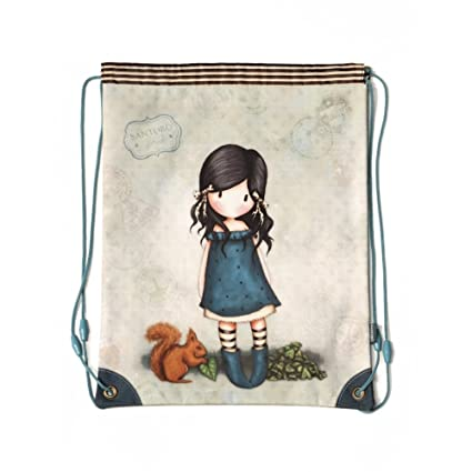 Mochila saco Gorjuss Azul 34x45cm You Brought Me Love