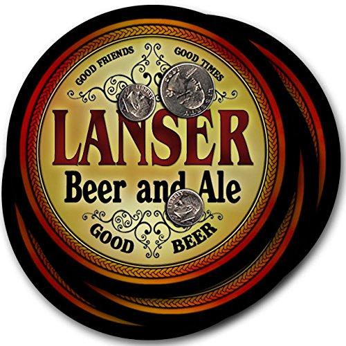 Lanserビール& Ale – 4パックドリンクコースター   B003QXOUFY