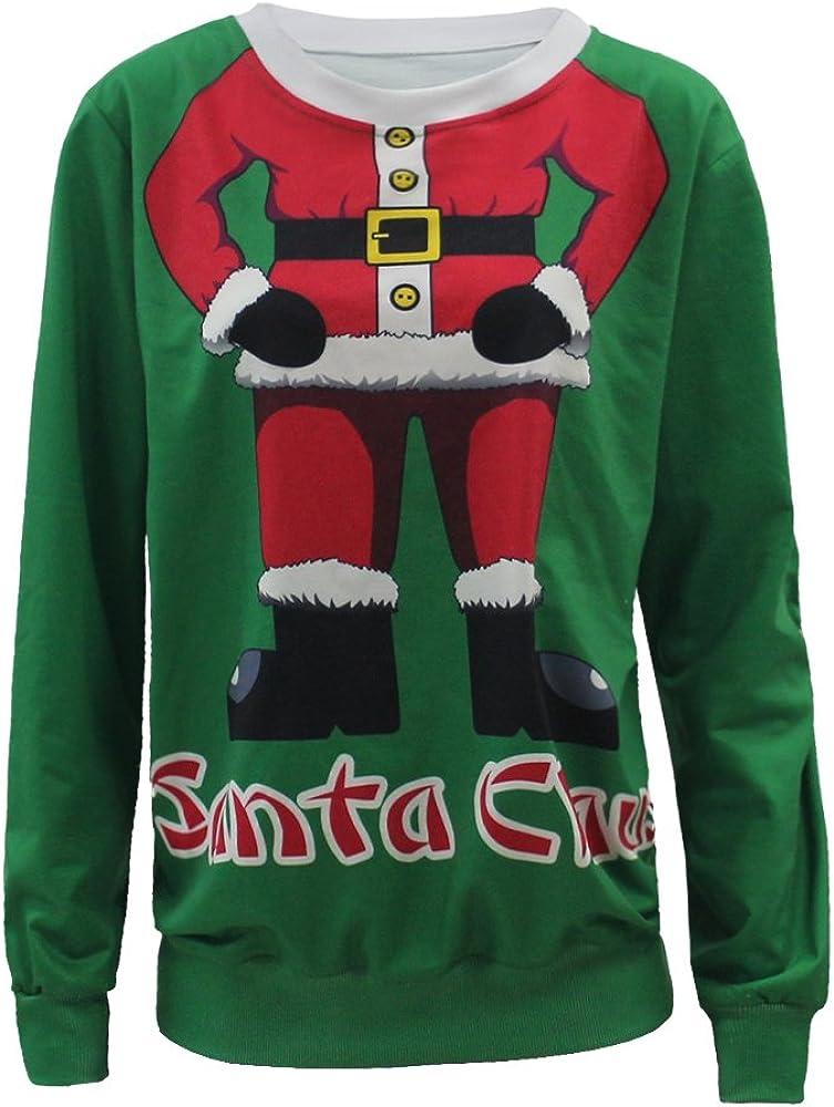 Leezeshaw Unisex Christmas Element 3D Printed Xmas Jumper Couples Sweatshirts