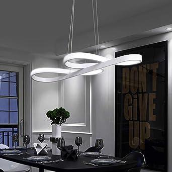 ZMH Lámpara Colgante LED Lámpara de techo Luz de Techo Iluminación Araña  38W Luz y Altura Adjustable (3500-6500k) con Control Remoto de para ...