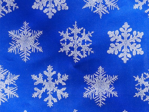 Pack of 1, Blue Snowflake 26'' x 833' Half Ream Gift Wrap (Foil) for Holiday, Party, Kids' Birthday, Wedding & Special Occasion Packaging by Generic