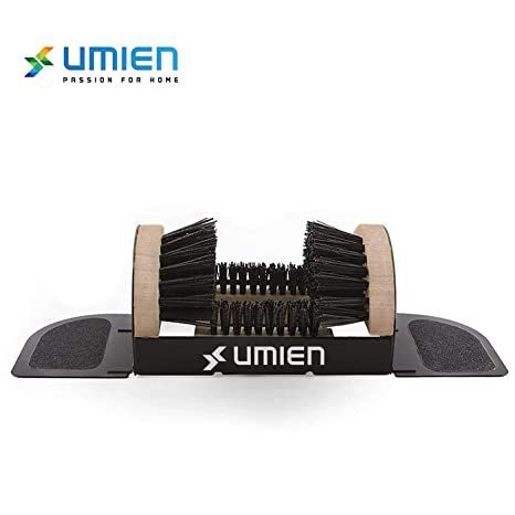 Umien Boot Scraper Brush Outdoor - Deluxe Folding Boot Cleaner Scrubber, No  Mounting Required Indoor and outdoor use - Includes Extra Shoe Brush -