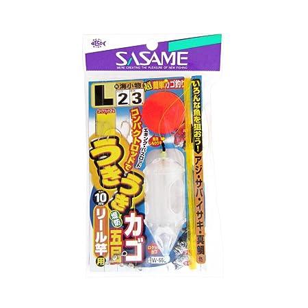 ささめ針(SASAME)W-665うきうき堤防カゴ五目リール竿用Lの画像