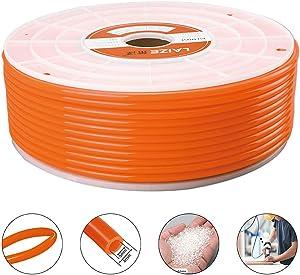 Beduan Pneumatic Tubing Pipe, 8mm x 5mm Orange 292ft/89Meter, Air Compressor PU Hose Line Tube for Fluid Transfer