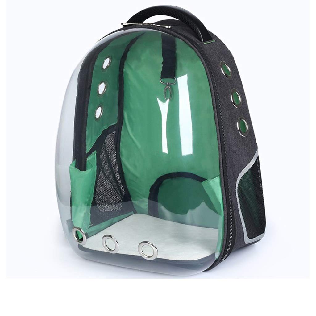 Green YQRYP Pet Backpack Puppy Carrier Bag Cat Pet Transparent Case Portable Bubble Carrying Backpack Travel Knapsack Bag Walking,Travel,Hiking,Camping (color   Green)