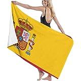 Elsaone Toallas de Playa Originalidad Bandera de Marruecos Toalla de Manta de Playa Grande Toalla de baño Ultra Suave Altamente Absorbente de Gran tamaño 32 x 52 Pulgadas: Amazon.es: Hogar