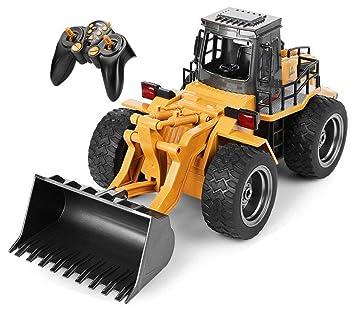 Tractor Sonidos Con 2 4 Toprace Y CanalesControl Excavadora Funcional 6 Luces Completo Frontal Cargador Construcción Remoto Rc Ghz De WDI29YeHE