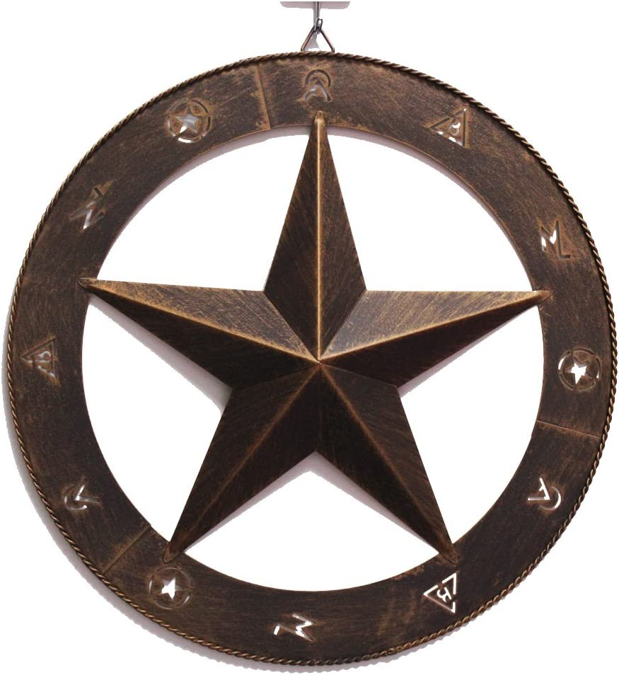 "15"" Metal Wall Decor Western Barn Farmhouse Star Wall Plaque Texas Star Wall Art Rustic Cowboy Country Wall Art Home Decor"