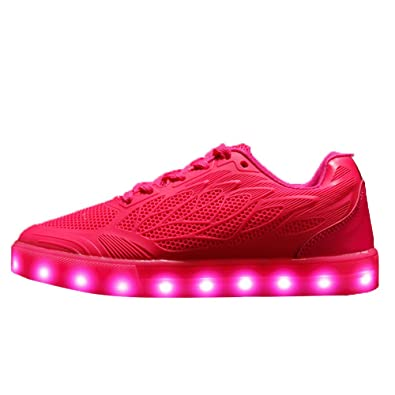 050fa2588da DAYOUT Neon Color Led Light Up Shoes for Women Breathable Fashion Luminous  Sneakers for Teenage Girls