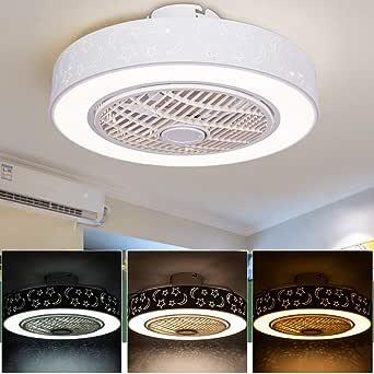 Ventilador de techo con luces y control remoto, luces de techo ...