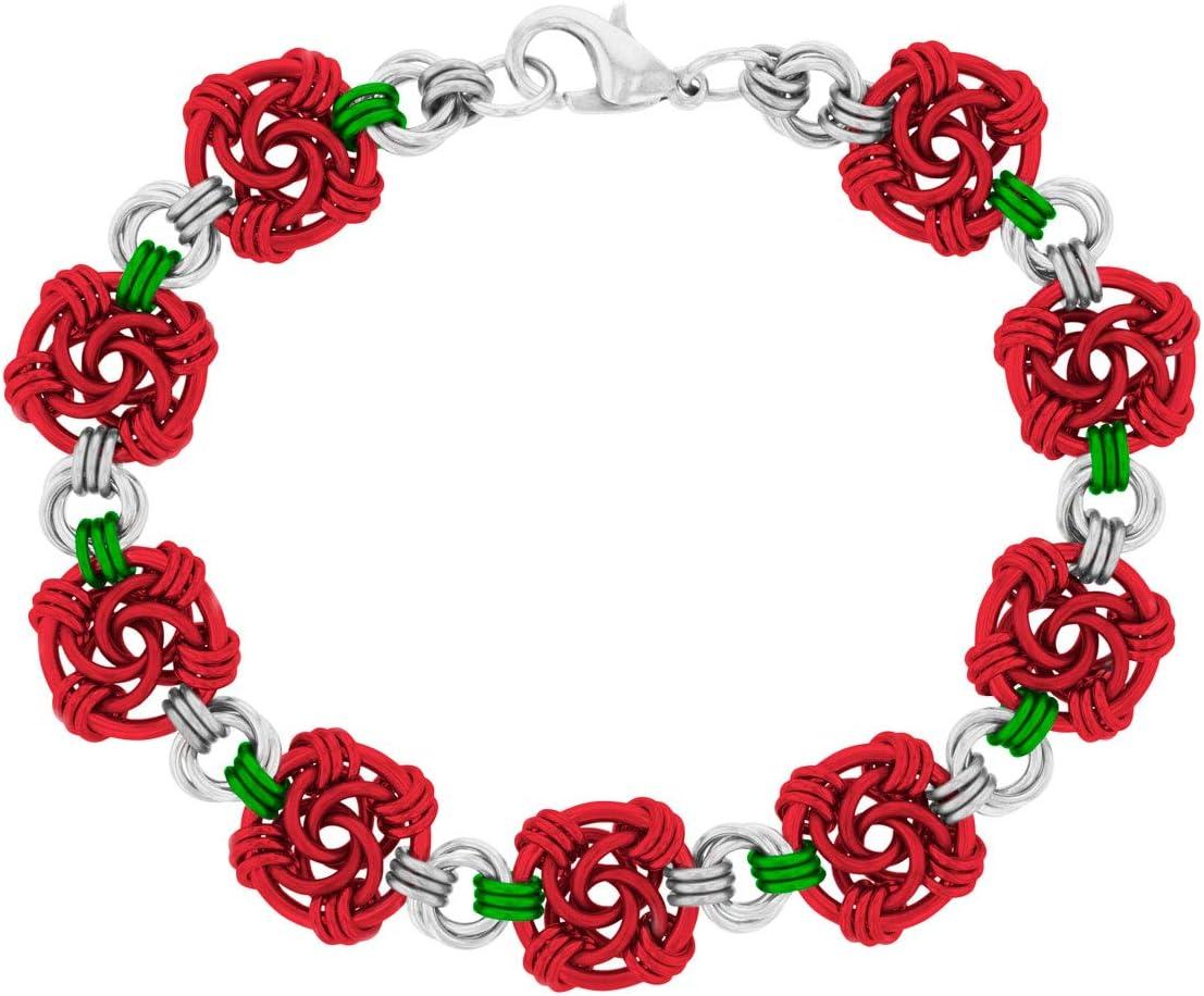 Apple Swirls Chain Maille Bracelet Kit