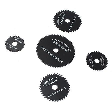 Amazon.com: DAOKI For Dremel Cutoff Circular Saw HSS Rotary Blades Tool Cutting Discs Mandrel 6PCS: Computers & Accessories