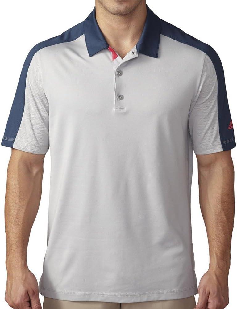 adidas Golf para Hombre Climacool Pique Geo Bloque Camisa de Polo ...