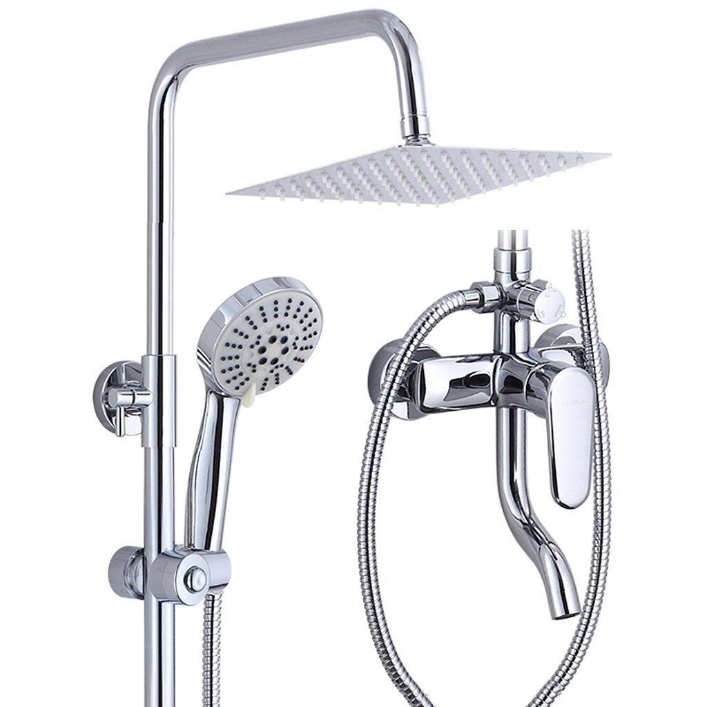 MOMO Dusche Set Kupfer Dusche Bad Warm und Kalt Wasserhahn Bad Große Dusche Set Kupfer Booster Dusche Wasserhahn by MOMO (Image #2)