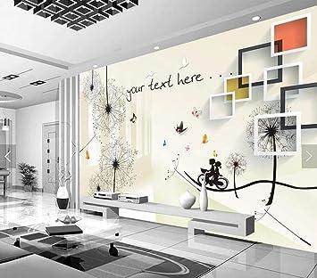 Papel pintado 3D estereoscópico moderno para pared de TV, 8D, para ...