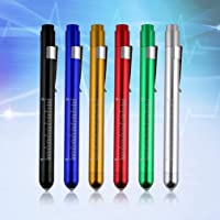St. Lun Medical Surgical Penlight Pen Light Flashlight Torch Scale,Variations:black