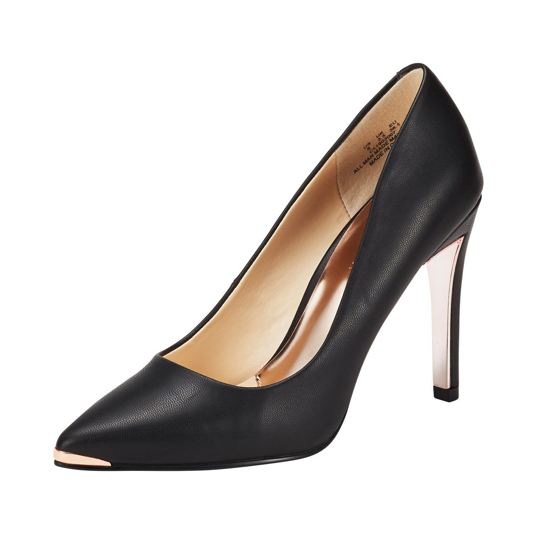 JENN ARDOR Women's Closed Pointed Toe Pumps Stiletto High Heels Office Lady Wedding Party Dress Heeded Shoes Black 8.5 (9.9in)