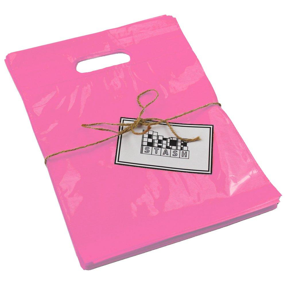 """200  20/"""" x 20/"""" Purple GLOSSY Low-Density Retail Merchandise Bags Boutique Shop"""