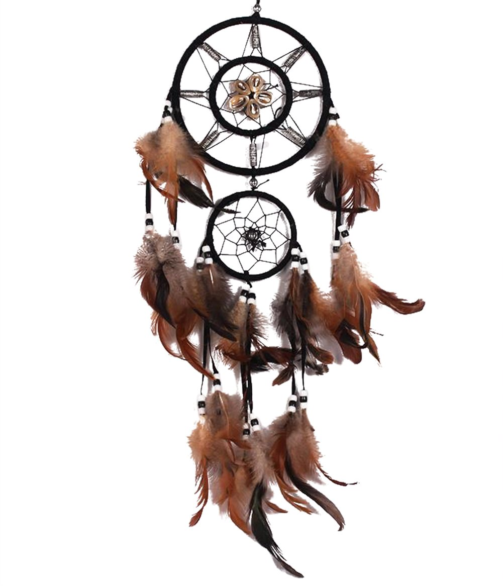 JUNGEN Feather Dream Catcher Decorative Hanging Ornaments White