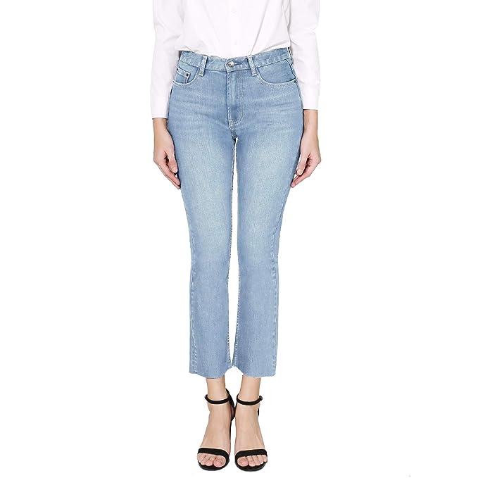 Amazon.com: Pantalones vaqueros para mujer de talle alto con ...