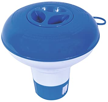 Bestway 58210 Dispensador tabletas Cloro Piscina, Azul, Color Blanco: Amazon.es: Jardín