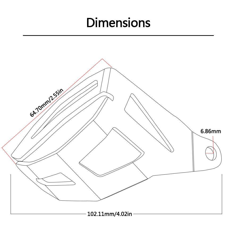 XZANTE F/ür BMW R 1200 Gs Lc Adventure 2014 2015 2016 Motorrad Zubeh?r Hinter Rad Brems Fl/üssigkeits Beh?lter Schutz Abdeckung Sch/ützen Schwarz
