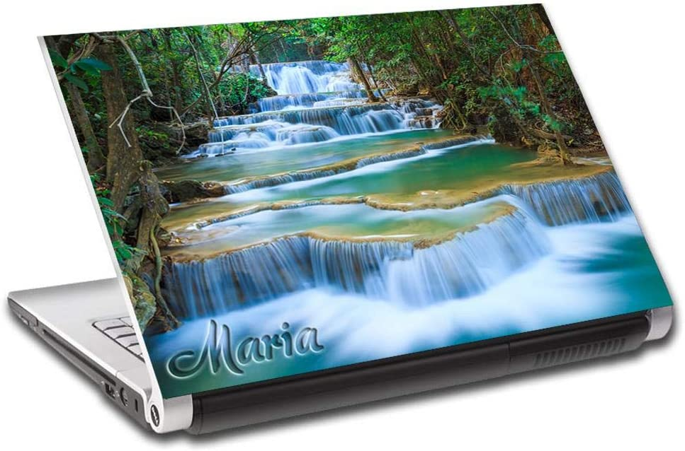 """Exotic Forest Waterfall Nature Personalized LAPTOP Skin Cover Decal Sticker L799, 15.6"""""""