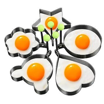 Moldes para freír huevos, Rasse® 5pcs un Set Huevo molde con forma de huevo