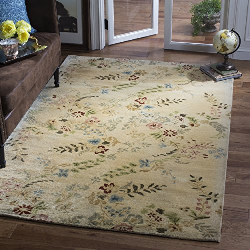 Metro Wool Area Rug (Safavieh Metro Collection MET986A Handmade Ivory and Multi Wool Area Rug (5' x 8'))