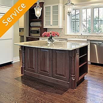 kitchen island assembly amazon com home services