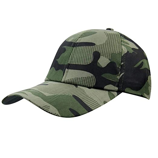 0f4feee16bba0f Image Unavailable. Image not available for. Color: Mens Summer Camo Army  Military Peaked Golf Runner Long Brim Sun Baseball Cap Hat