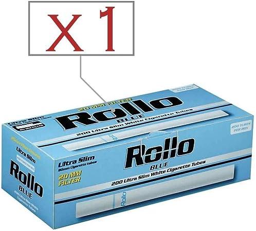 Rollo Caja de 200 Tubos Blue Ultra Slim: Amazon.es: Hogar